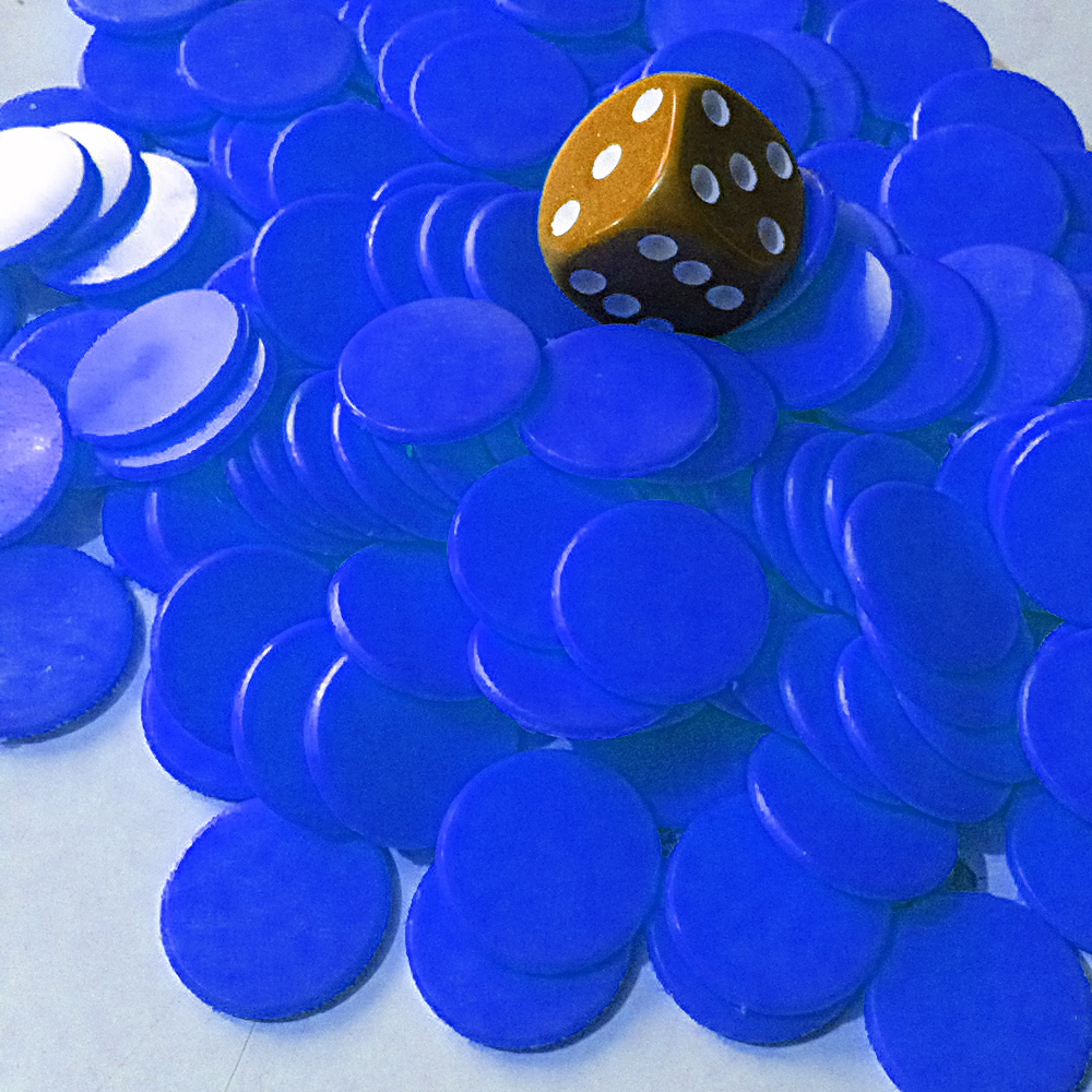 15mm Counters BLUE x1000