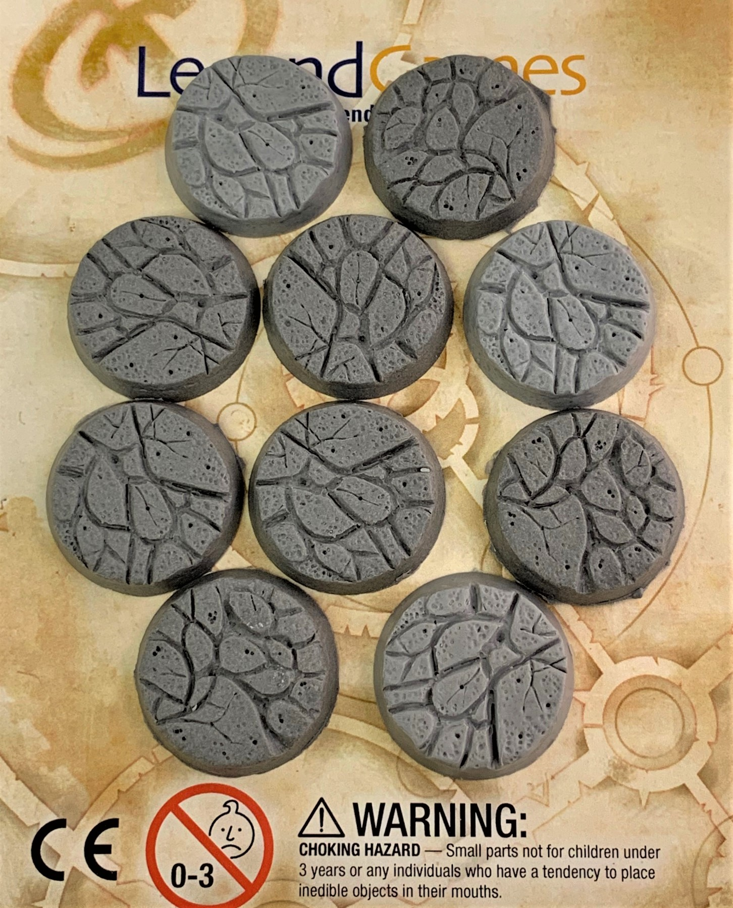 LegendGames 32mm Round Natural Stone Base Pack x10