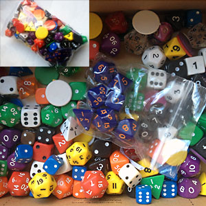 Bulk Mixed Dice Refill Pack - Min 100 dice