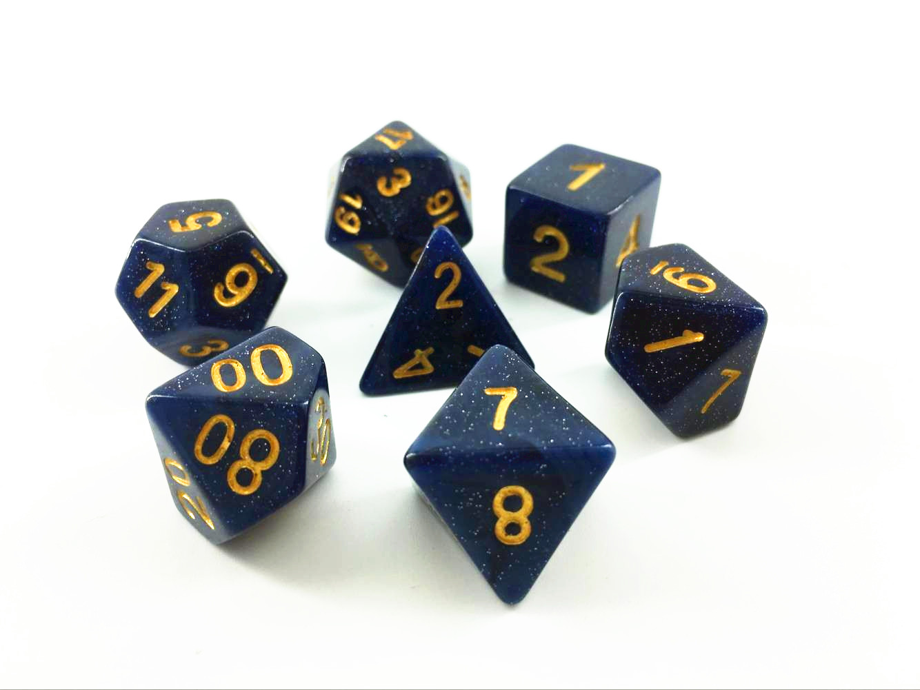 Universe Dice Set D20 Poly Dice set - BLUE (CHN)