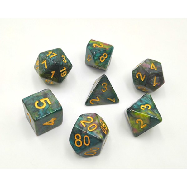 HD Dice Marblized poly set