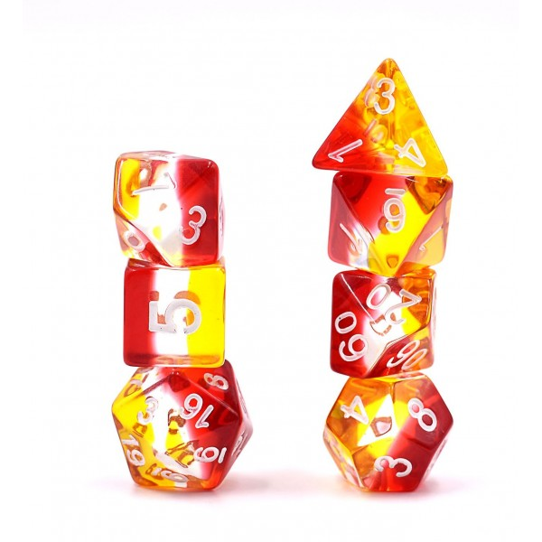 Aurora Dice Set D20 Poly Dice set - EMBERS GEM (CHN)