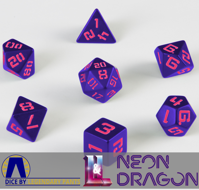 LP Neon Purple with Pink Poly Dice