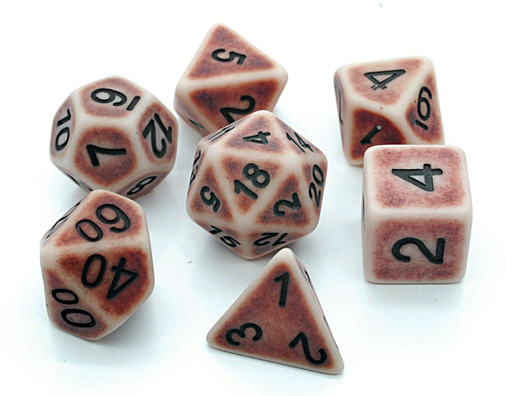 Ancient Dice Set D20 Poly Dice set - RED (CHN)