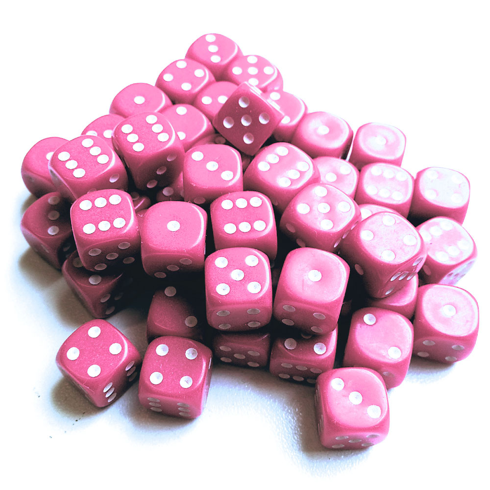 d6 spot dice - 12mm PINKx10