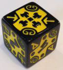 Viking d6 Yellow Crossed Axes